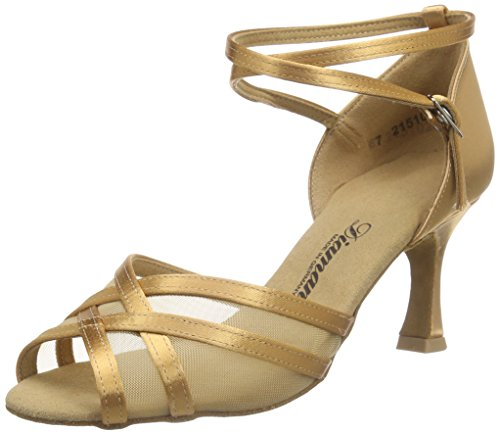 Diamant Diamant Damen Latein Tanzschuhe 035-087-087 - Zapatos de baile Mujer Beige