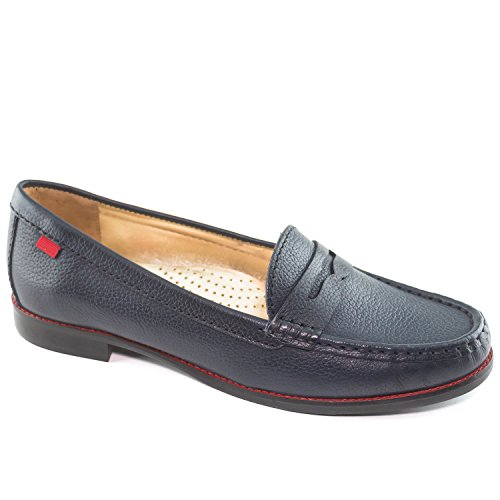 Marc Joseph New York Women's East Village Navy Grainy Penny Loafer 7.5 (Club Village)