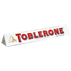 Toblerone White Chocolate, 3.52-Ounce Bars (Pack of 12)