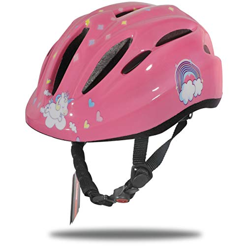 (DRBIKE Kids Bike Helmet for 5 6 7 8 9 Years Girls, Bicycle Helmet for Toddler & Preschool, Infant Pink Cycling Protective Gear for Scooter Cycling Skate Mutli-Sport,)