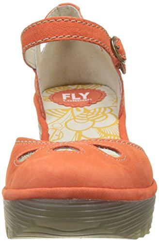 Arancione Chiusa Orange poppy London Donna Punta Fly Scarpe Tacco Yuna Col wBqqnZHx