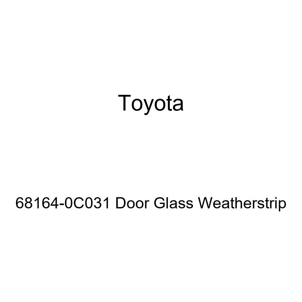 TOYOTA Genuine 68164-0C031 Door Glass Weatherstrip