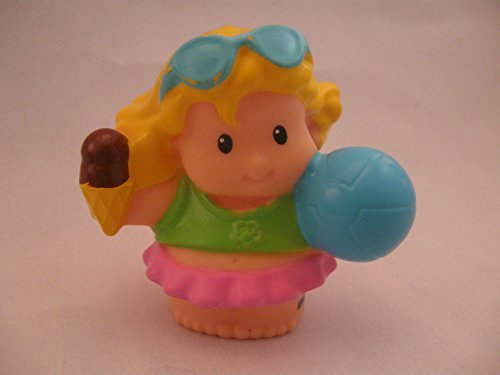 Fisher Price Little People Bathtub (Fisher Price Little People Beach, Bath Tub, Pool, Summer Play Set Sarah Lynn, Tummy Out, Ice Cream Cone, Beach Ball OOP 2010)