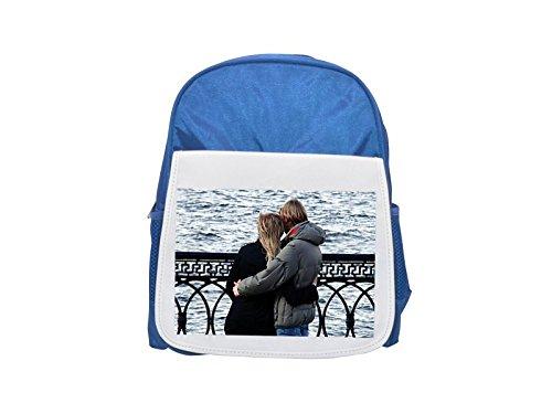 Tenderness Heart - Couple, Love, Tenderness, Sweethearts printed kid's blue backpack, Cute backpacks, cute small backpacks, cute black backpack, cool black backpack, fashion backpacks, large fashion backpacks, black fas