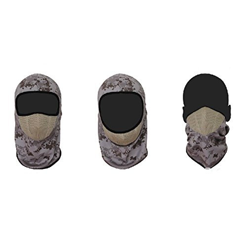 iPerb® Outdoor 3 in 1 New Printed Camo Skull Face Mask for Hunting Tactical CS Game & Bike Cycling, Pattern#4
