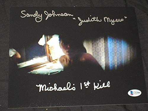 SANDY JOHNSON Signed 8x10 Photo Judith Myers Halloween Michael's 1st Kill BAS BECKETT COA ()
