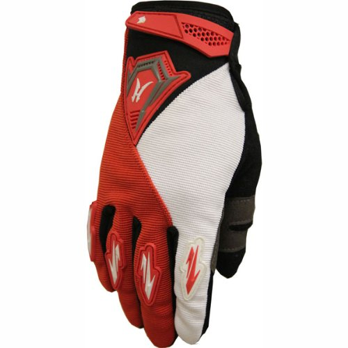ATV Street Bike Motorcycle Gloves 011 Red/White (XL)