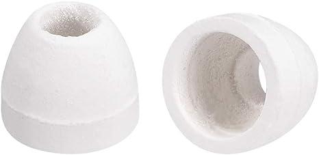 QUQUTWO 5PCS High Frequency Electric Porcelain Gourd 24mm Porcelain Ceramic Insulator White
