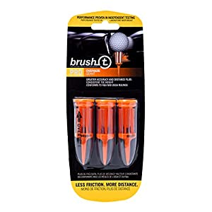 "Brush T Pack of 3 Oversized (2.4"") Golf Tees - Low Friction, More Distance, Consistent Height"