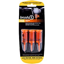 """Brush-T Pack of 3 Oversized (2.4"""") Golf Tees - Low Friction, More Distance, Consistent Height"""