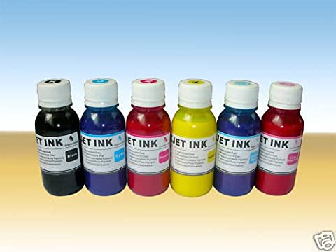 ND ™ Brand Dinsink Anti-UV 6 color Pigmented Sublimation Ink for (non-OEM) Epson Refillable Cartridges, CISS / Heat Transfer Printing, 6X100ml The item with ND (Ciss Epson R300)
