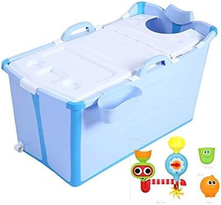 大人の幼児のためのホーム折り畳み式のバスタブ用ポータブルバスタブ、シャワーストールお湯にタブを浸します (Color : Blue)
