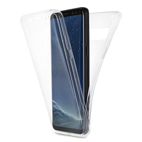Olixar Samsung S8 Full Body Case - 360 Degree - 100% Clear FlexiCover - Samsung Galaxy - Front + Back Protection - Wireless Charging Compatible