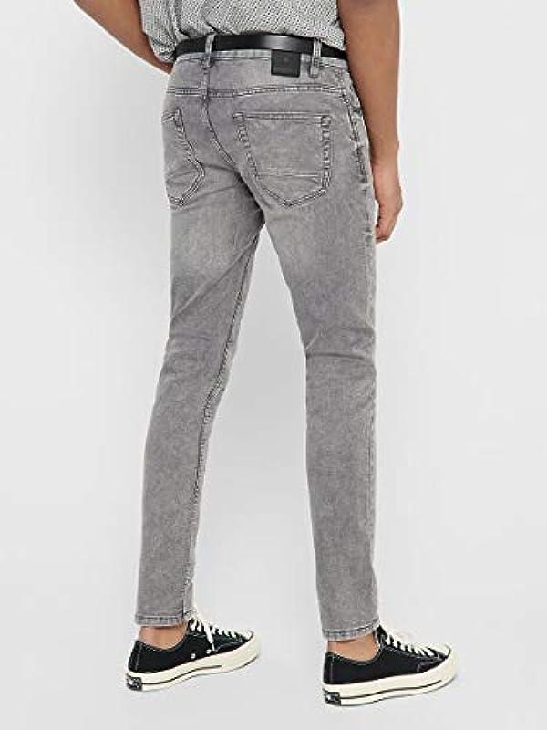 ONLY & SONS jeansy męskie Slim Fit ONSLoom Zip Grey: Odzież