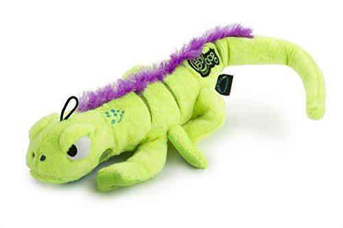 (goDog Amphibianz Tough Plush Extra Large Dog Toy with Chew Guard Technology, Iguana)