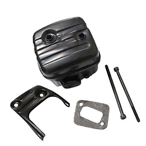 Kit Side Mount Muffler - Poweka New Pack of Exhaust Muffler W/Gasket Bracket Screws for Husqvarna 340 345 346XP 350 351 353 Jonsered 2150 2153 544028301