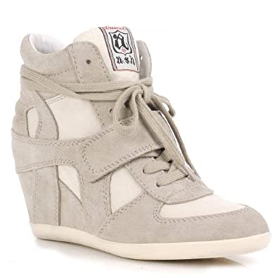 d0934dc5a91 Ash Bowie Clay Suede and Canvas Wedge Hi-Top Trainers Clay 39   Amazon.co.uk  Shoes   Bags