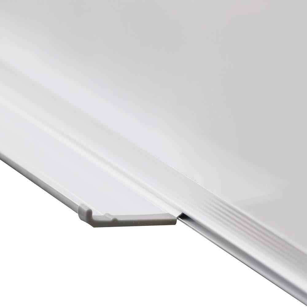 Spugna Cornice in Alluminio Cancellabile a Secco Pennarelli da Parete Vassoio 80x60 cm Dimensione a Scelta Lavagna Magnetica Magneti Bacheca Magnetica Whiteboard Bianca