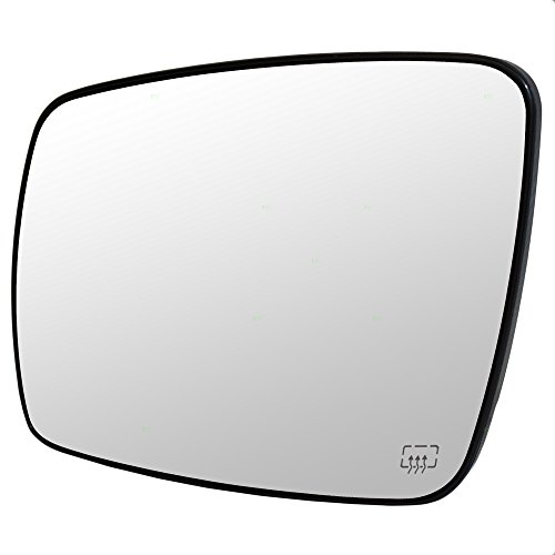 Drivers Side View Mirror Glass with Base Heated Replacement for Dodge Journey 68045693AA CH1323393 ()
