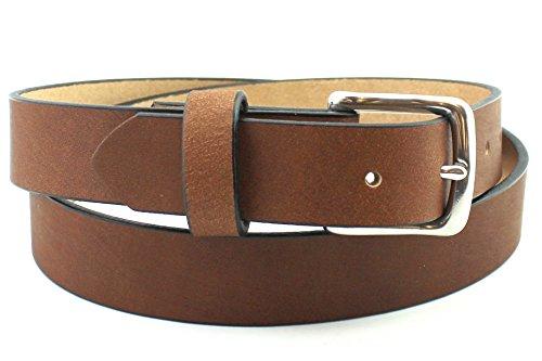 Soft Brown Men's Leather Belt Solid Full Grain Best Custom Hand Made USA 1.25 and 1.5 - Belt Genuine Boston