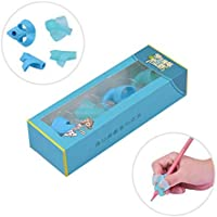Adorable Ring Pencil Grips Eco-friendly Soft Silicone Pencil Holders Writing Posture Correction Finger Grip for Kids...