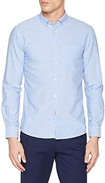 Celio Naoxprint3 Camisa, Azul (Bleu Ciel Bleu Ciel), 42 (Talla ...