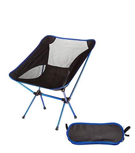 Asolym Silla de Camping portatil, compacta, Ultraligera, Plegable, pequena, Plegable, Plegable, Liviana, para Campamento, Picnic, al Aire Libre, Pesca,Azul