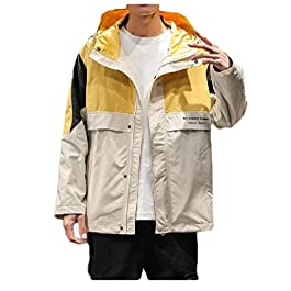 Men's Classic-Fit Hoodie Big and Tall Parka Hoodie Jackets