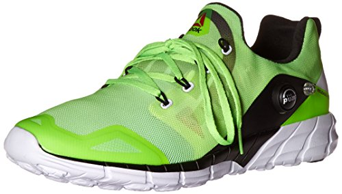 Reebok Men's Reebok Zpump Fusion 2.0 Running Shoe, Alloy/Tin Grey/Solar Yellow/Coal/White, 9 M US