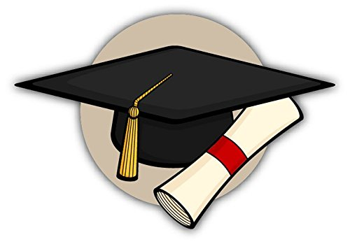 Graduation Hat Diploma Sticker Decal Design 5