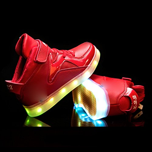 Kinder Freizeitschuhe Der Blinken 33eu Größe Spinne Farben ladesportschuhe Schuhe 7 Usb Leuchtende wCqYpBF
