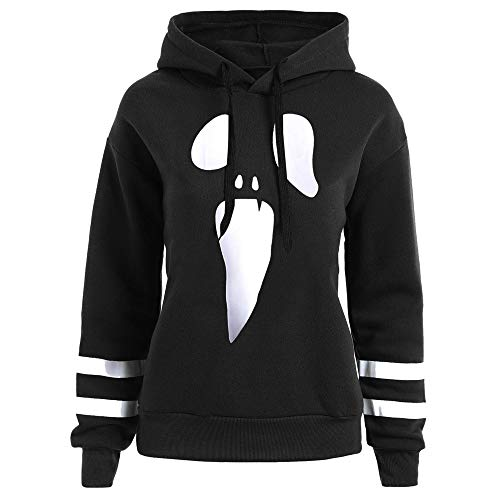 Halloween Clearance ! JSPOYOU Women Long Sleeve Hoodie Sweatshirt Hooded Pullover Tops Blouse -