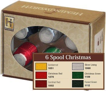 Hemingworth Embroidery Thread 6 Spool Christmas 4337016114