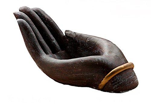 YOURNELO Creative Buddha Hand Flower Plant Pots Succulent Planters Vase (Charcoal) ()