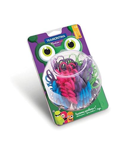 Tesoura Escolar Inox Monstercort 72 Peças Coloridas 25999409
