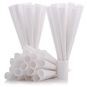 Cotton Candy Express Cones- 100 Pack, White | Cotton Candy Cones | For Commercial or Household Use | Disposable Paper Cones for Homemade Cotton Candy