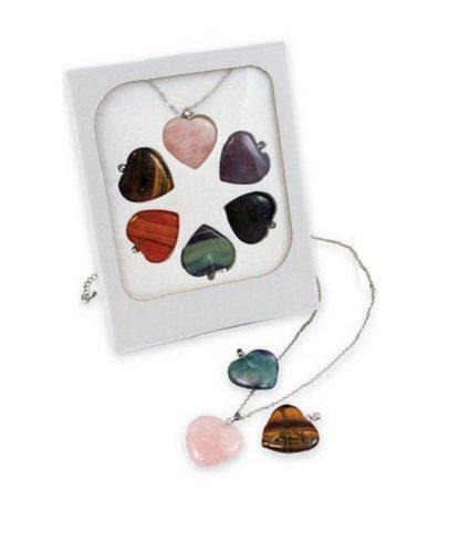 Interchangeable Gemstone Heart Pendants