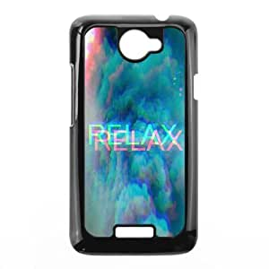 Cheap phonecase, Funny quotes, Keep relax picture for black plastic HTC One X case