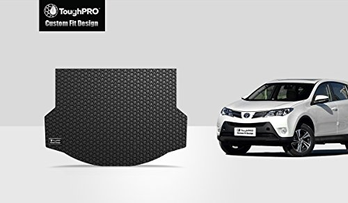 ToughPRO Toyota RAV4 Cargo Mat - All Weather - Heavy Duty -Black Rubber - (2013-2018) (Liner Cargo Rav4)