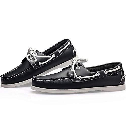 38 Wealsex Encaje del De para Zapatos 45 Tamaño Zapatos Barco Casuales Hombre Negro Classic P4Pq1