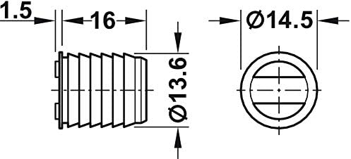 T/ür-Magnet zum Einbohren Einbohrmagnet 4,5 kg Haltekraft 6 St/ück Magnet-Verschluss extra stark M/öbelmagnet mit Gegenplatte Gedotec Magnetschn/äpper braun M/öbelschn/äpper f/ür 12 mm Holz-Bohrung