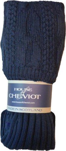 - Glenmore Kilt Socks (Medium (8.5-10.5), Navy Blue)