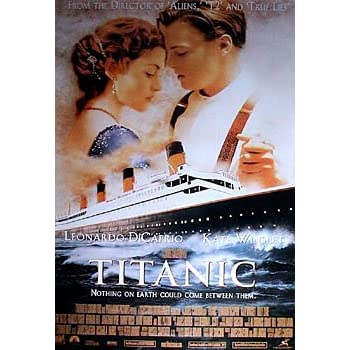 amazoncom titanic film promo art leonardo dicaprio