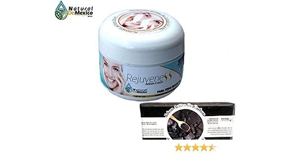 4d8b1de15 Amazon.com  Crema Natural de Mexico Rejuveness Antiaging cream and 1  Charcoal Soap  Beauty