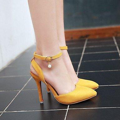 LFNLYX Tacones mujer Primavera Verano Otoño otros PU Office & Carrera parte Casual & Noche Stiletto talón hebilla rojo amarillo beige gris Gray