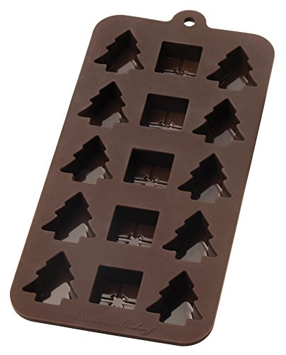 Mrs. Anderson's Baking 43765 Anderson's Chocolate Mold, European-Grade Silicone, Holiday, Brown