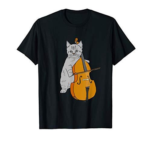 Cute Cat Cello Orchestra Kitten Violin Fiddle Birthday T-Shirt