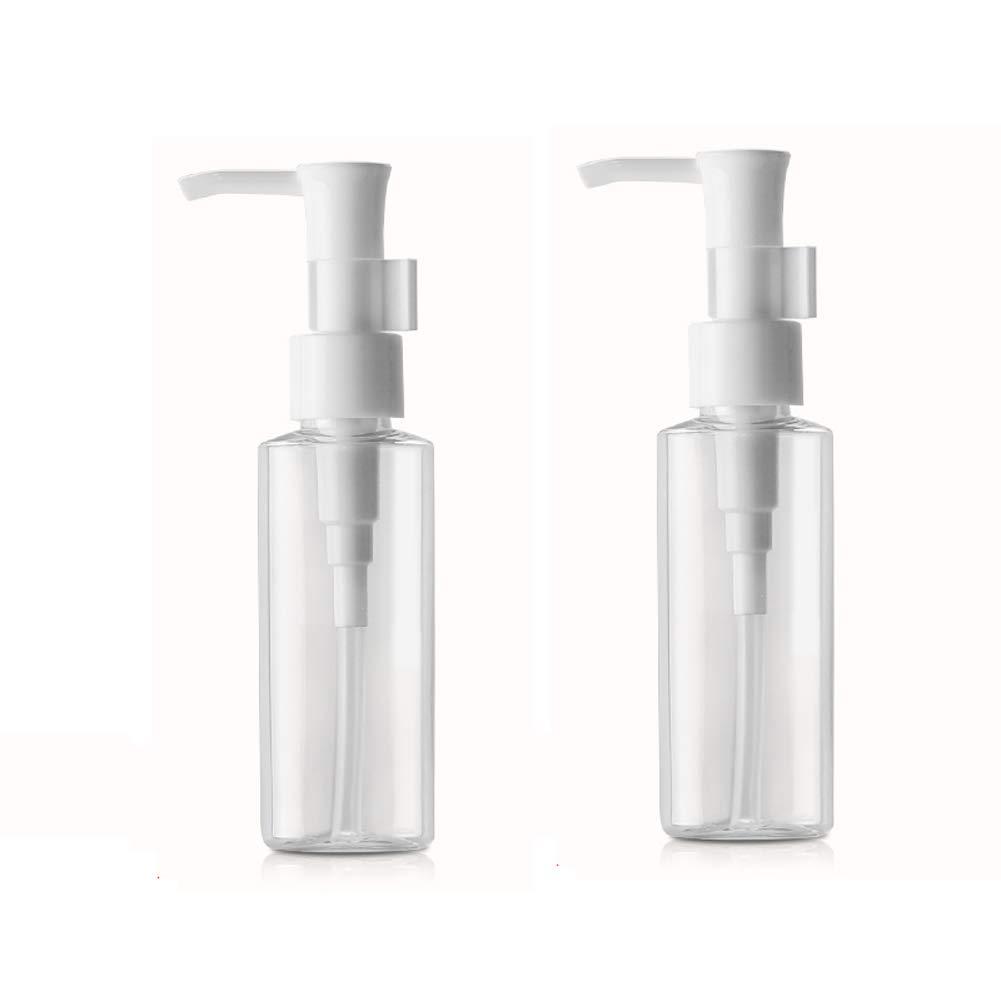 2 botellas de plástico transparente para el hogar, viajes ...