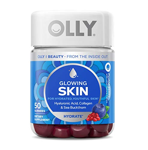 OLLY Glowing Skin Gummy, 25 Day Supply (50 Count), Plump Berry, Hyaluronic Acid, Collagen, Sea Buckthorn, Chewable… 1