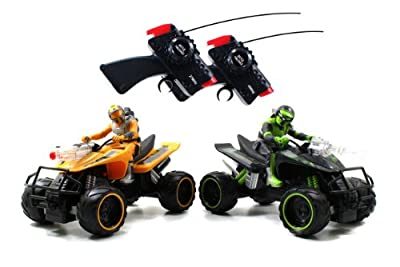 Jada Toys Battle Machines Rc Quad Bike Laser Combat 2-pack Green And Yellow from Jada Toys